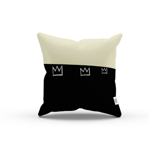 crown king samo Jean Michel Basquiat pillow