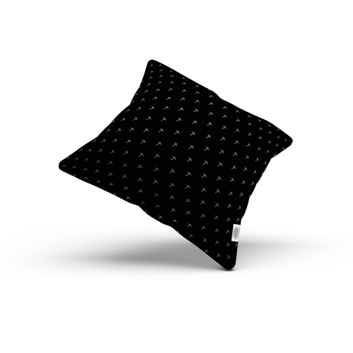 cross samo Jean Michel Basquiat pillow