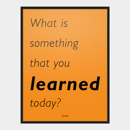 SOMETHING LEARNED POSTER