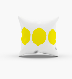 fruit lemon yellow pillow