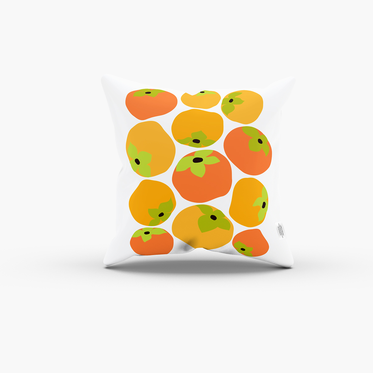 fruit persimmon ORANGE pillow